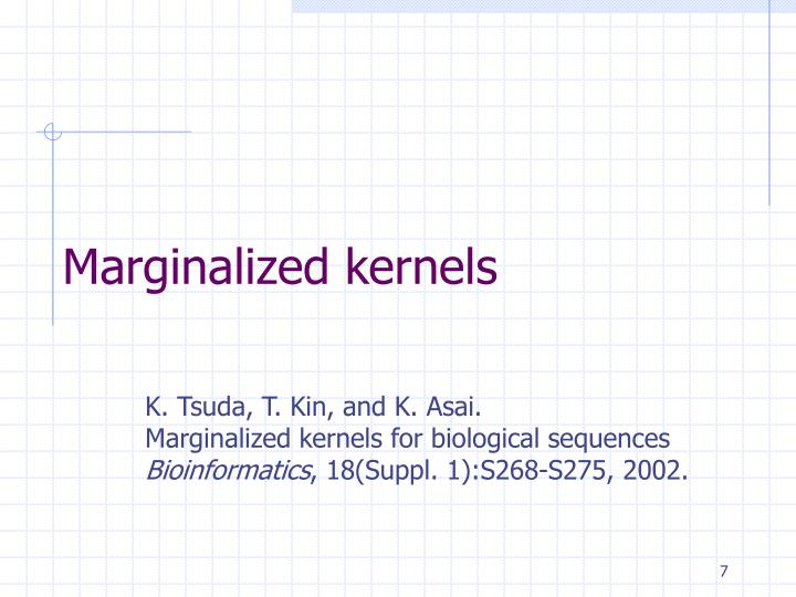 Marginalized kernels