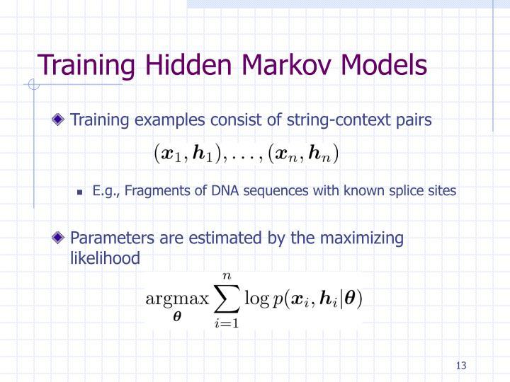 Training Hidden Markov Models