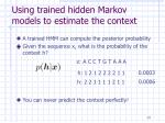 using trained hidden markov models to estimate the context