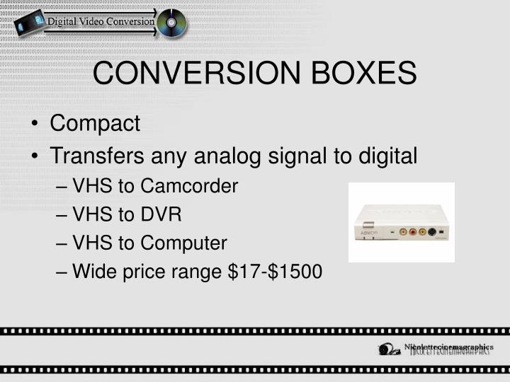 CONVERSION BOXES