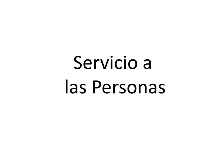 Servicio a