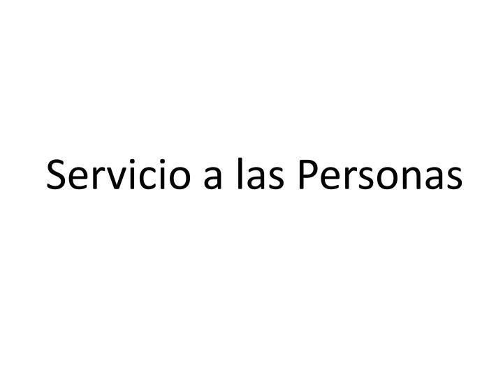 Servicio a las Personas