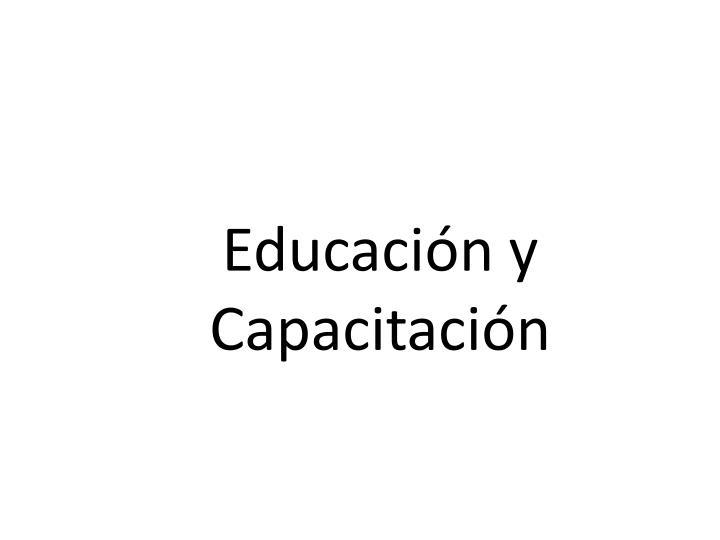 Educación y