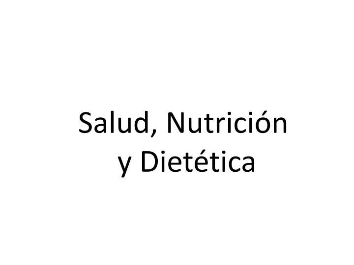 Salud, Nutrición