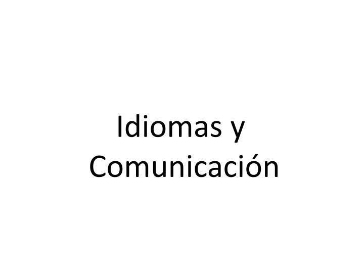 Idiomas y