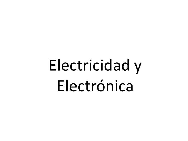 Electricidad y