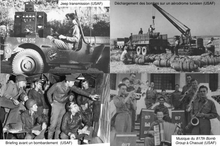 Déchargement des bombes sur un aérodrome tunisien (USAF)