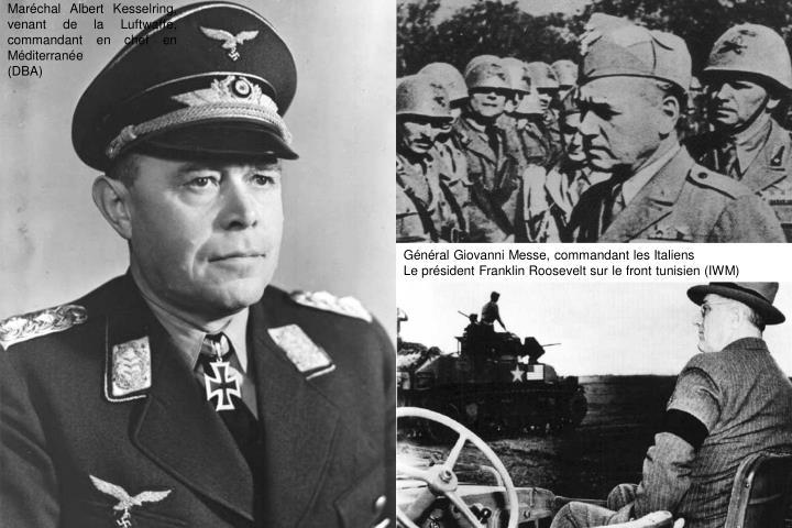 Maréchal Albert Kesselring, venant de la Luftwaffe, commandant en chef en Méditerranée