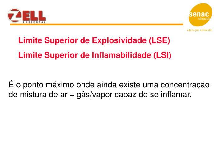 Limite Superior de Explosividade (LSE)