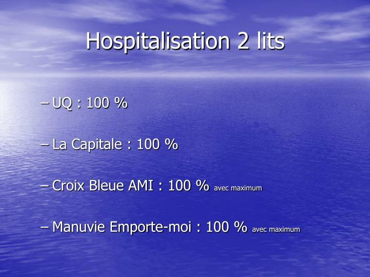 Hospitalisation 2 lits