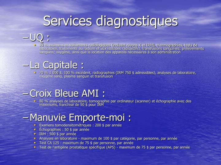 Services diagnostiques