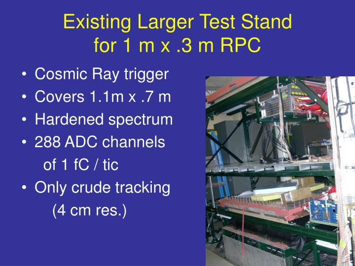 Existing Larger Test Stand