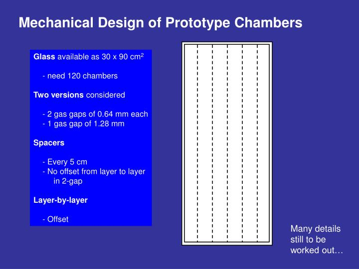 Mechanical Design of Prototype Chambers