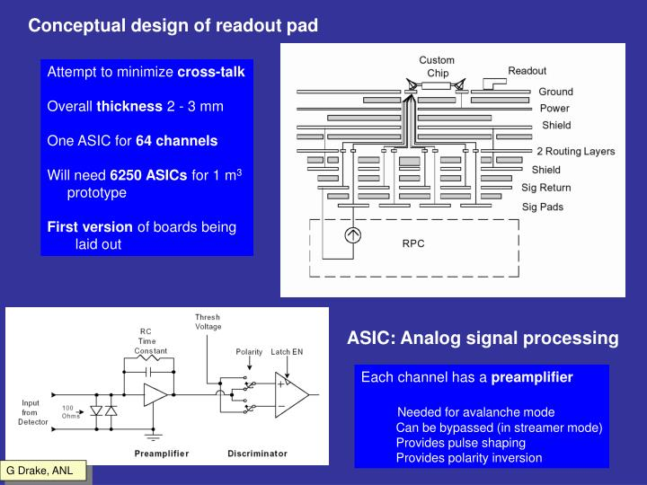 Conceptual design of readout pad