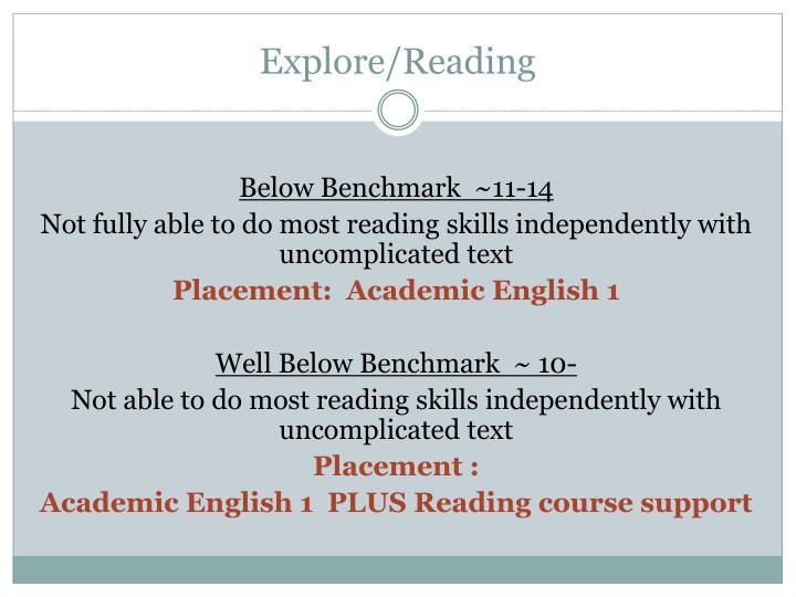Explore/Reading