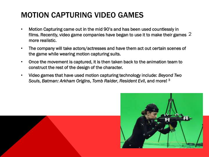 Motion Capturing Video Games