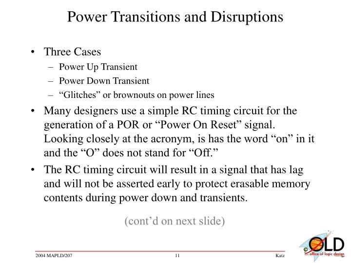 Power Transitions and Disruptions