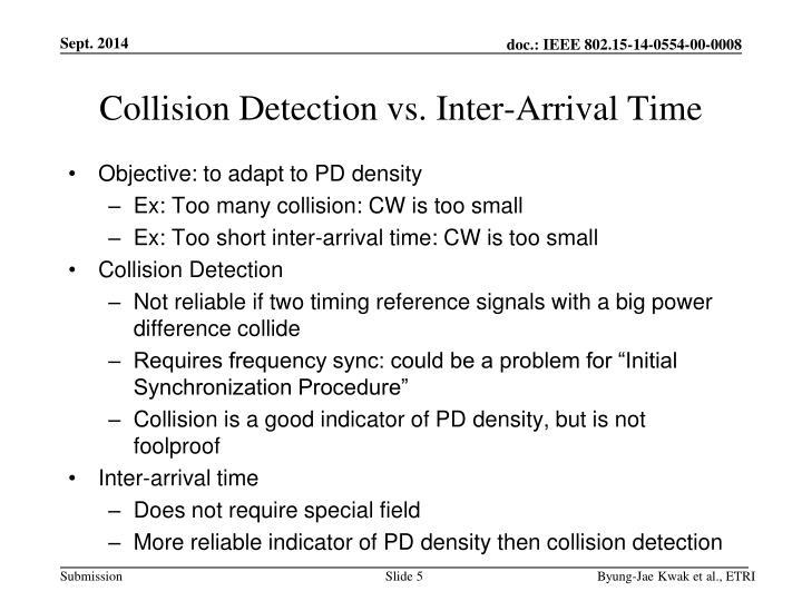 Collision Detection vs. Inter-Arrival Time