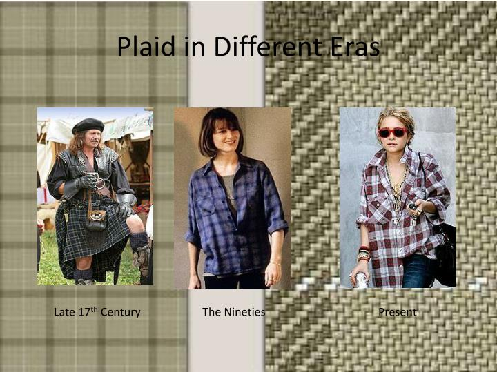 Plaid in Different Eras