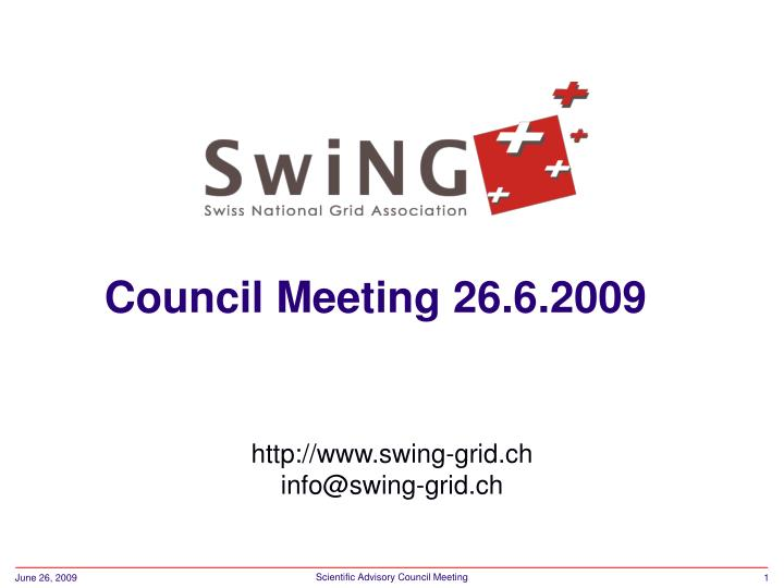 Council Meeting 26.6.2009