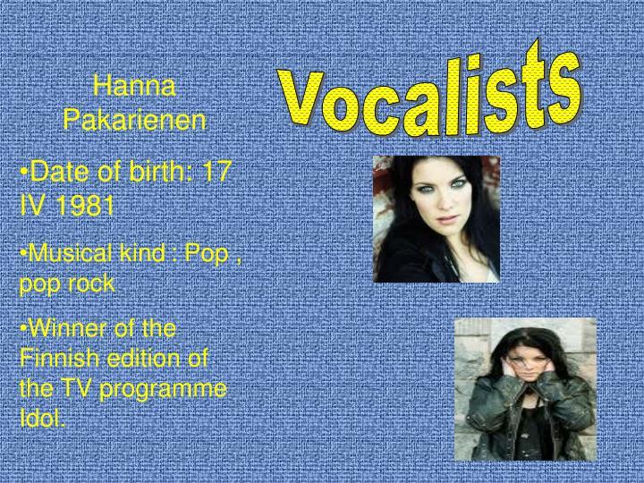 Vocalists