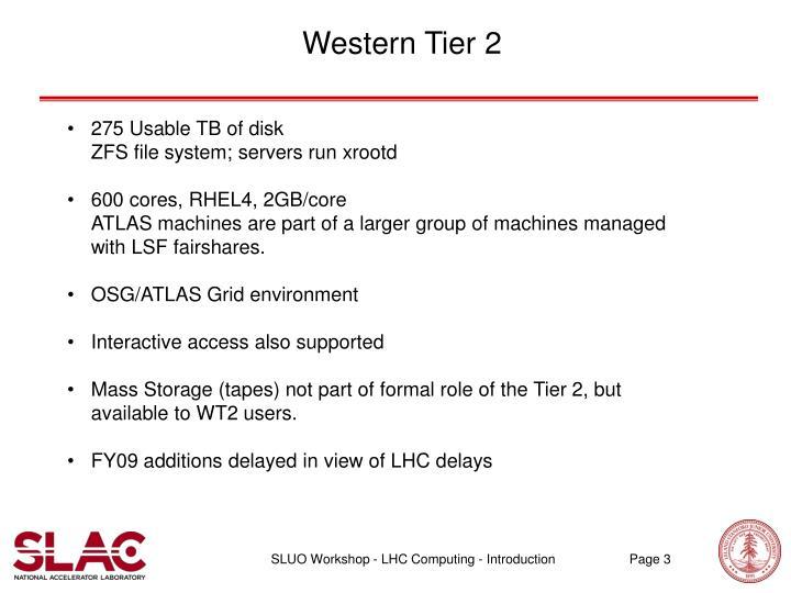 Western Tier 2