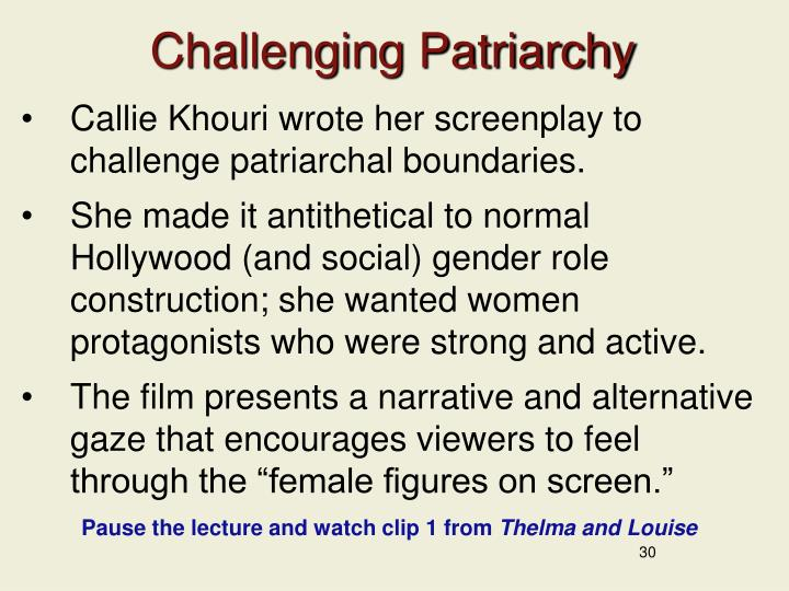 Challenging Patriarchy