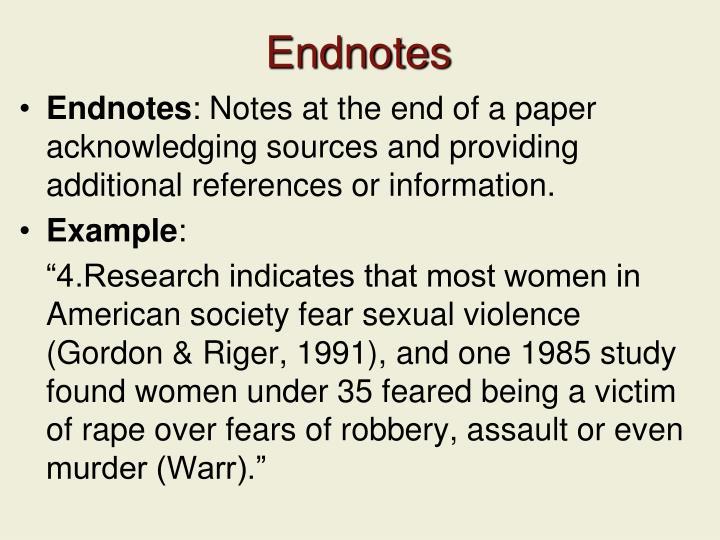 Endnotes
