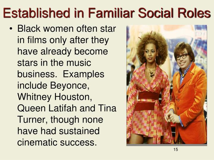 Established in Familiar Social Roles