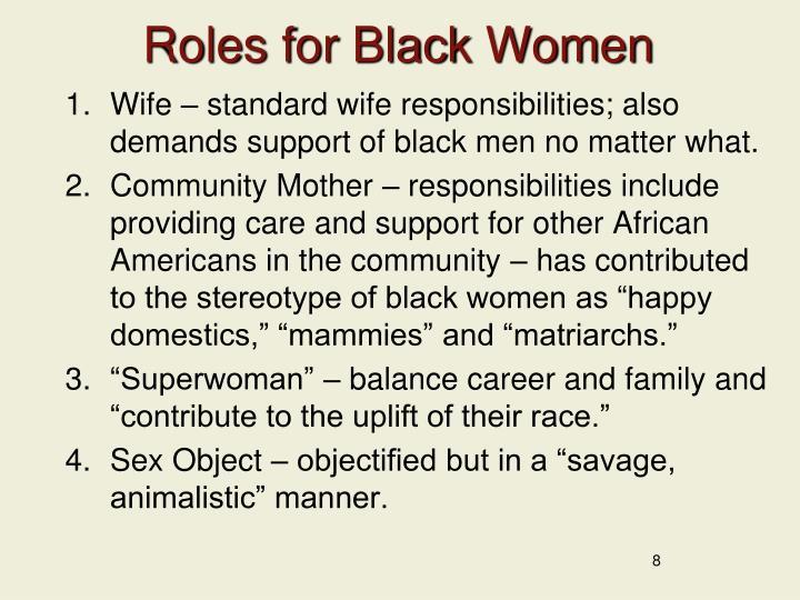 Roles for Black Women