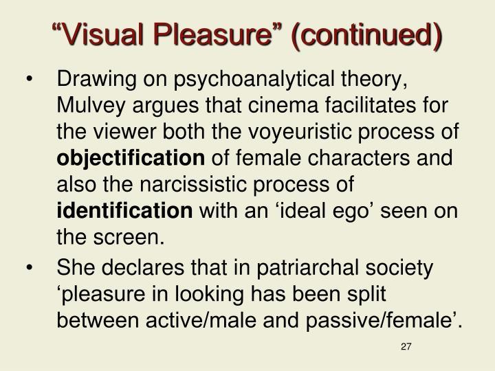 """Visual Pleasure"" (continued)"