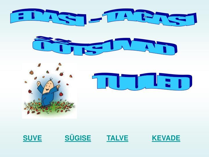 EDASI  -  TAGASI