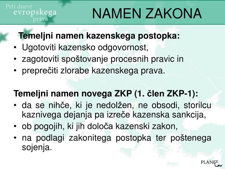 NAMEN ZAKONA