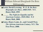 william edward burghardt du bois bibliography