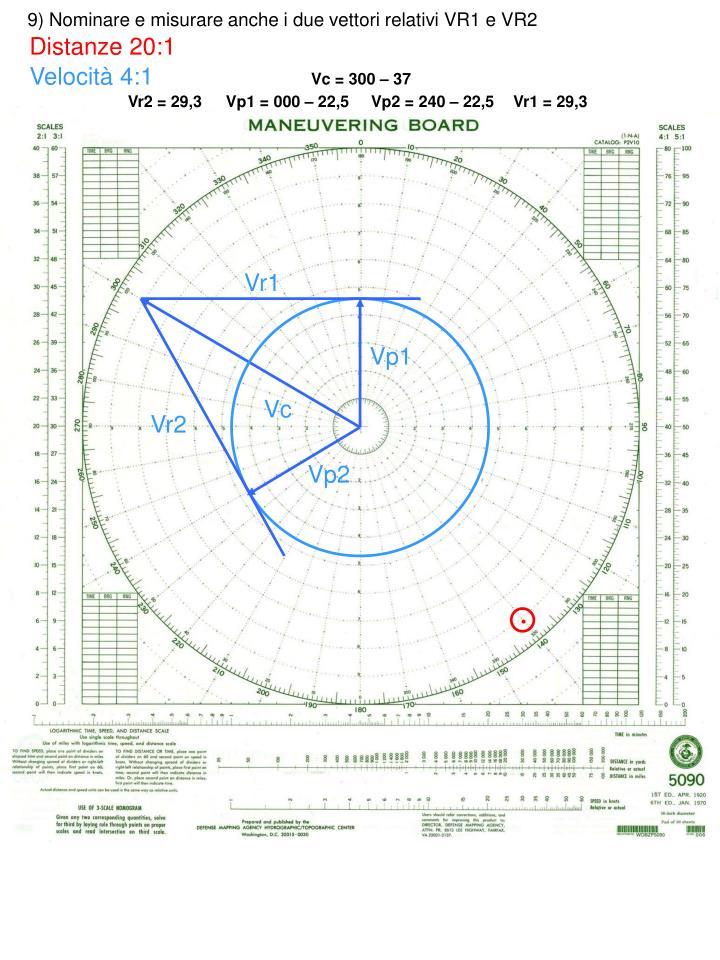 9) Nominare e misurare anche i due vettori relativi VR1 e VR2