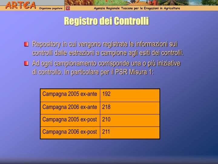Registro dei Controlli