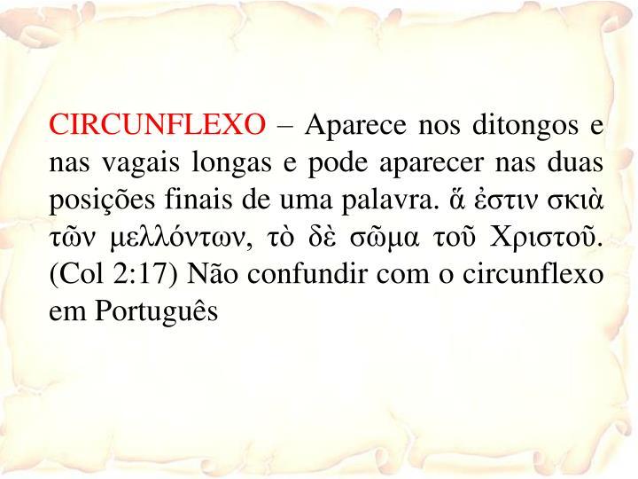 CIRCUNFLEXO