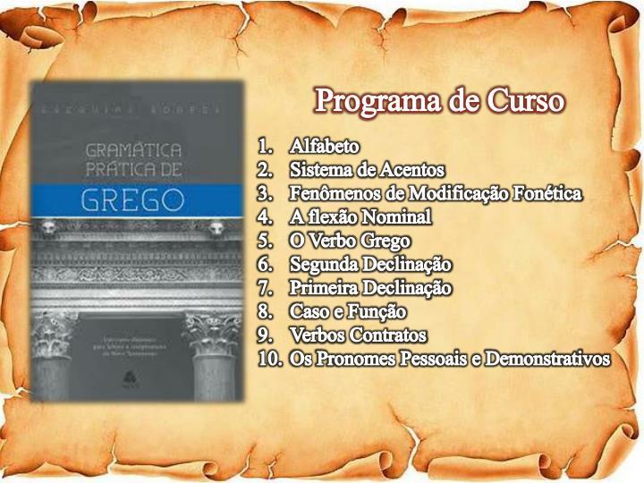 Programa de Curso