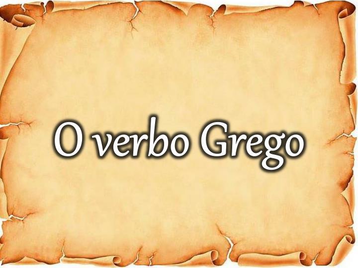 O verbo Grego