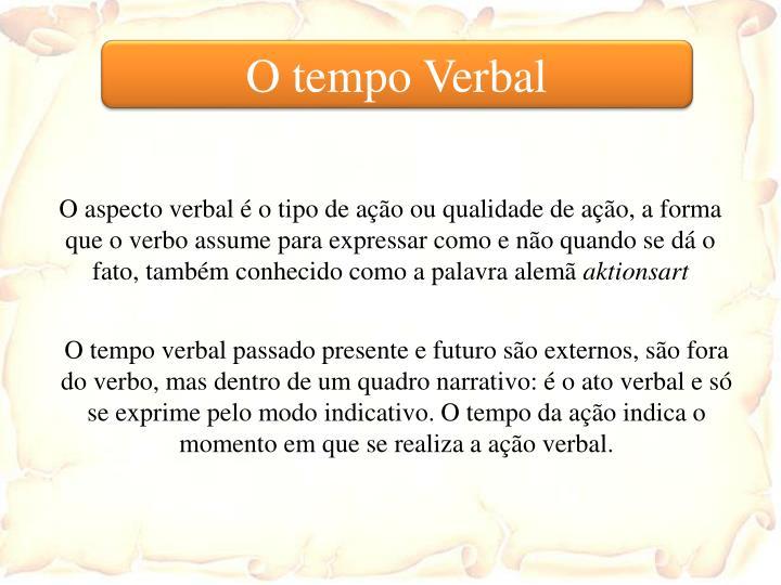 O tempo Verbal