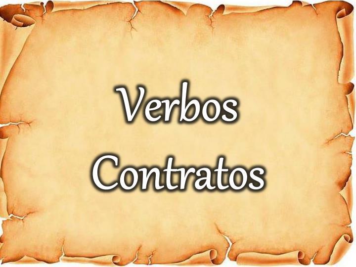 Verbos Contratos