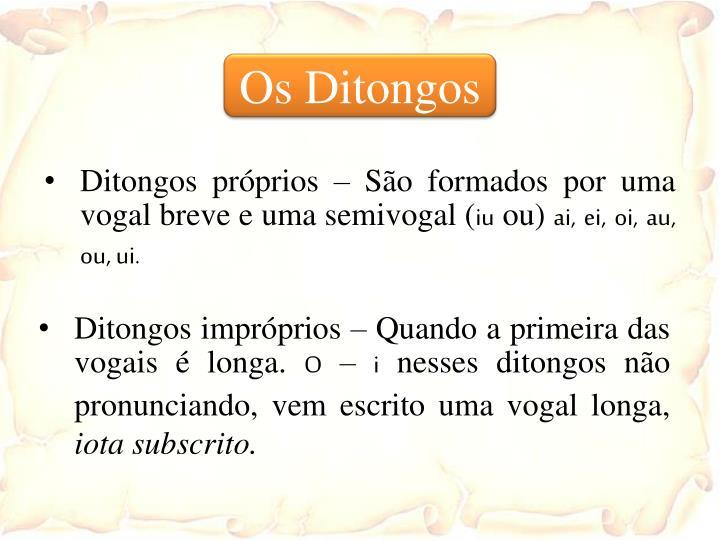Os Ditongos