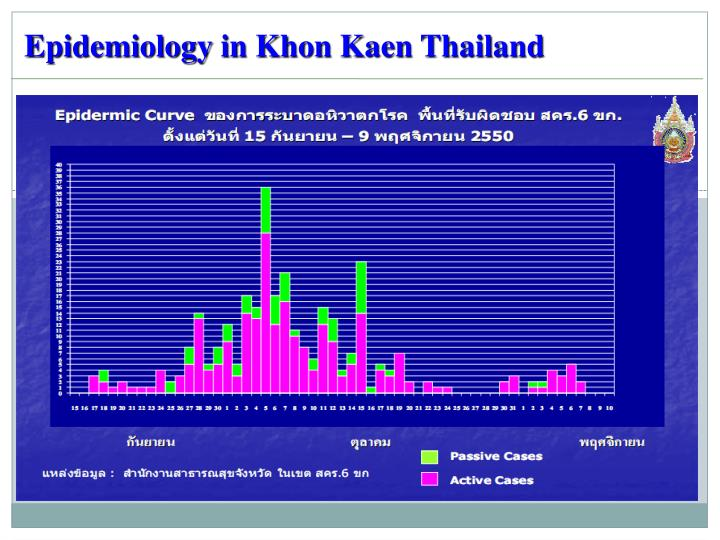 Epidemiology in Khon Kaen Thailand