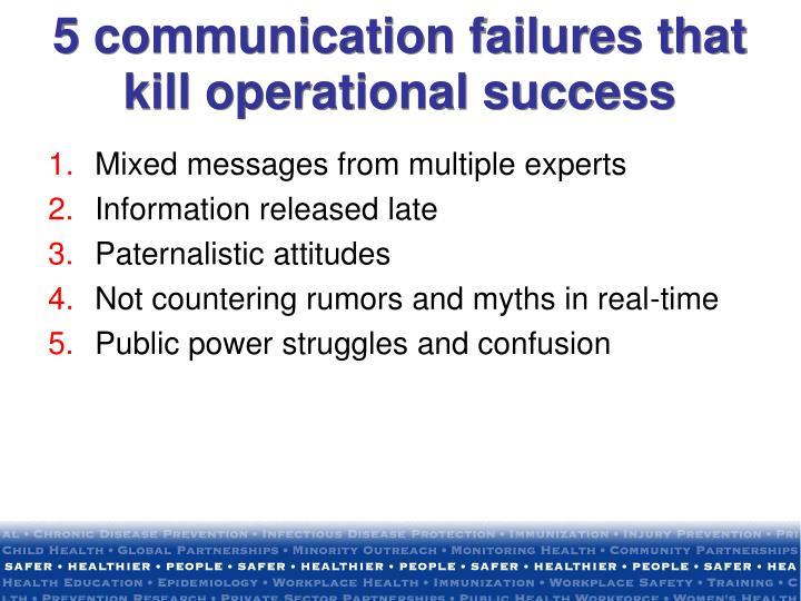 5 communication failures that kill operational success