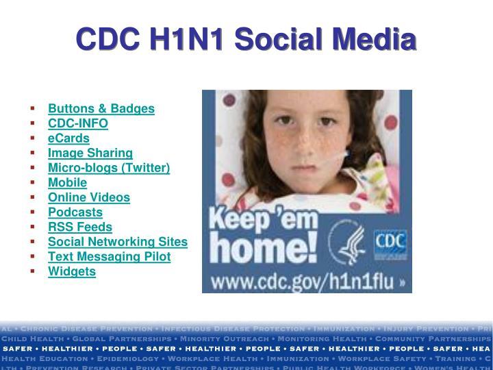 CDC H1N1 Social Media