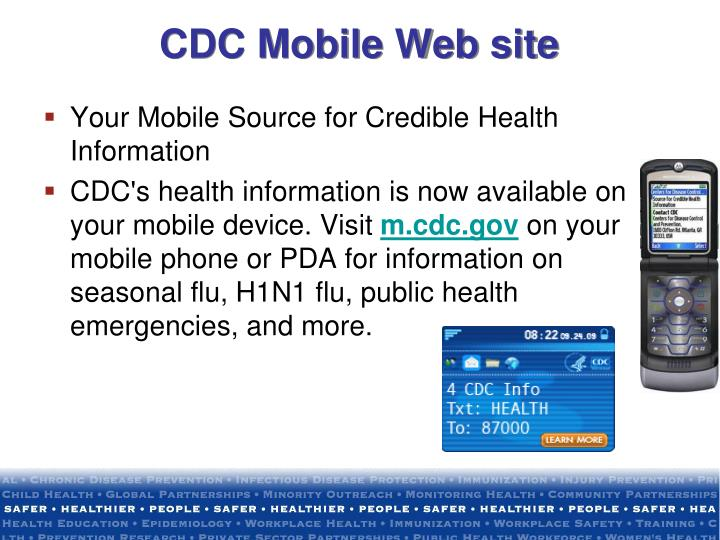 CDC Mobile Web site