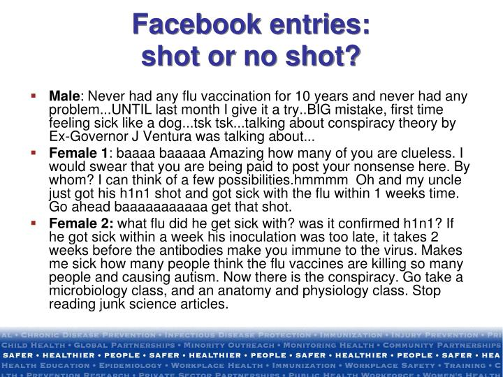 Facebook entries: