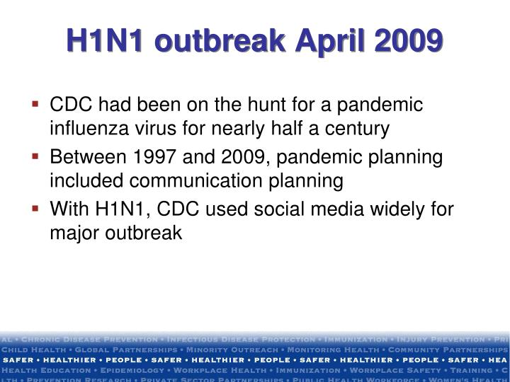 H1N1 outbreak April 2009