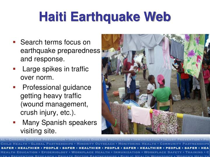 Search terms focus on earthquake preparedness and response.