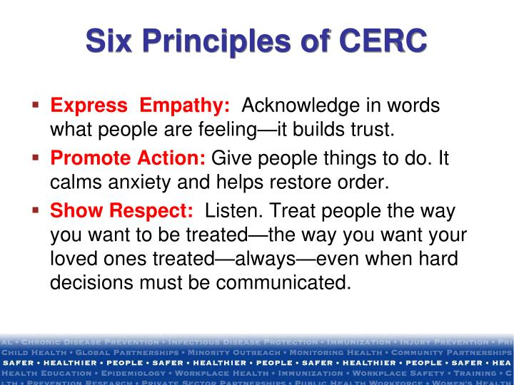 Six Principles of CERC